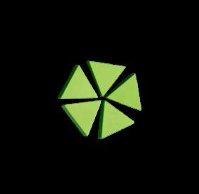 Dreiecke grün