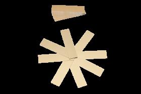 Kartonstreifen gold