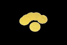 VE Stoffdeckchen gelb
