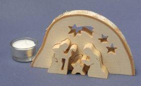 3D Krippe Holz