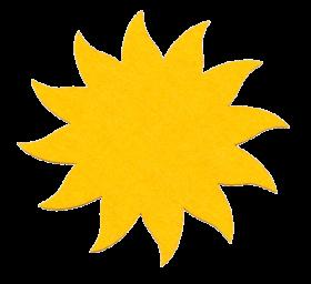Filzsonne groß