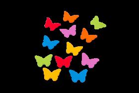 Schmetterlinge Filz