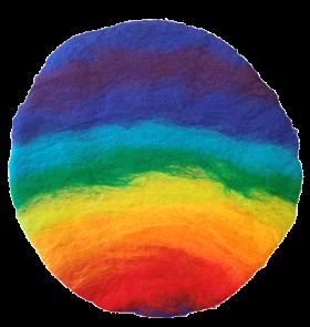 "Symboldeckchen ""Regenbogen komplett"""