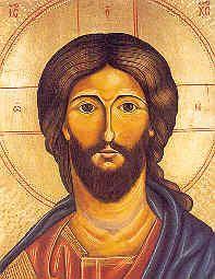 Jesusikone auf Kunstdruckpapier, 19 x 24 cm
