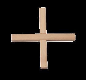 Holzkreuz zum Ineinanderstecken