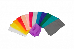 Chiffontücher Einzelfarben
