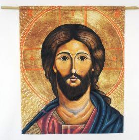 Jesus-Ikone Stofftuch