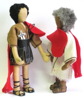 Bibelfiguren: St. Martin und der Bettler