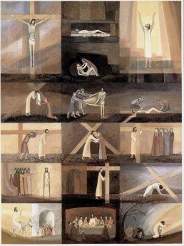 Satz Kreuzwegbilder, 16 Stück